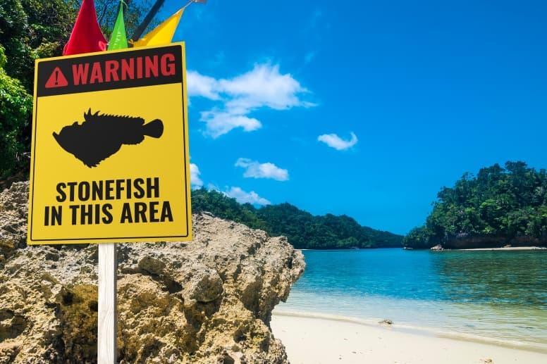 Stonefish Beach Sign